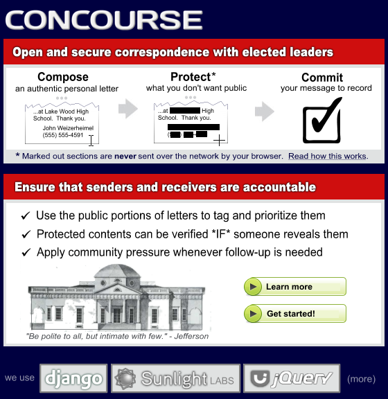 Concourse Homepage Concept